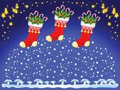 Christmas socks — Stock Vector
