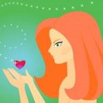 Girl in love — Stock Vector #1737548