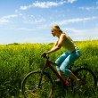 Girl biking — Stock Photo #1813121