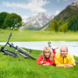 Royalty-Free Stock Photo: Two cyclists