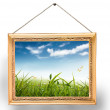 Painting with frame - Stock Photo