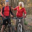 Cople biking — Stock Photo