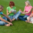 Stock Photo: Students studying outdoors