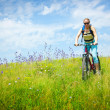 Girl biking — Stock Photo #1816344