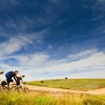 bisikletçiler açık havada Bisiklet relax — Stok fotoğraf