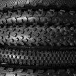 Bicycle tires background — Photo