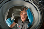 Funny plumber — Stock Photo