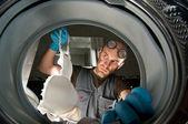 Ridiculous plumber — Stock Photo