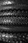 Bicycle tires background — Stock Photo