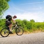 Motorcu hareket — Stok fotoğraf