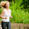 Stock Photo: Womrunning