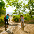 Cyclists relax biking outdoors — Stock Photo #1828065