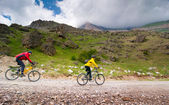 Cyclists relax biking outdoors — Foto de Stock