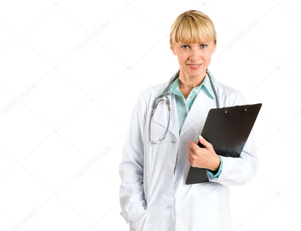 Smiling doctor isolated on white — Stock Photo #1821269