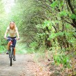 Girl biking — Stock Photo #1832490