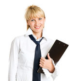 Business woman isolated — Stock Photo