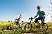 Ontspannen fietsen — Stockfoto