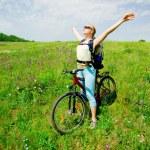 Girl biking — Stock Photo #2209933