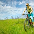 Girl biking — Stock Photo #2211236