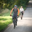 Couple biking — Stock Photo #2503662