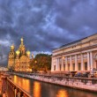 Night in saint-petersburg — Stock Photo