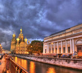 Night in saint-petersburg — Foto Stock