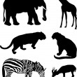 Royalty-Free Stock Vector Image: African animal silhouettes