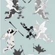 Isolated cupids silhouettes — Imagen vectorial