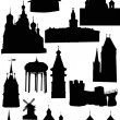 Old castles and towers — Stock Vector