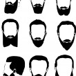 Men beard collection — Stock Vector