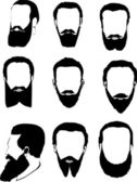 Men beard collection — Stock Vector