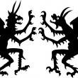 Two devil silhouettes — Stock Vector #1825015