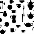 Tee and coffe dishware — Image vectorielle