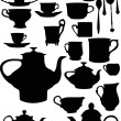 Tea and coffee dishware — Image vectorielle
