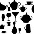 Collection of dishware — Image vectorielle