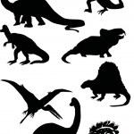 Dinosaur silhouettes — Stock Vector #1839463
