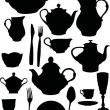 Coffee and tea dishware — Image vectorielle
