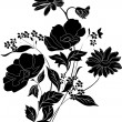 Beautiful black flower bouquet — Stock Vector