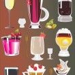 Stock Vector: Cocktails collection