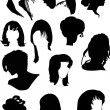 Twelve black woman hairstyles — Stock Vector #1915368