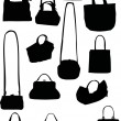 Handbag silhouettes - Stock Vector