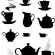Royalty-Free Stock Vektorfiler: Coffee cup silhouettes