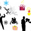 Royalty-Free Stock Vector Image: Christmas decoration elements