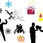 Christmas decoration elements — Stock Vector
