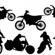 Racer silhouettes collection - Stock Vector