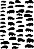 Cars isolated on white — Stock Vector