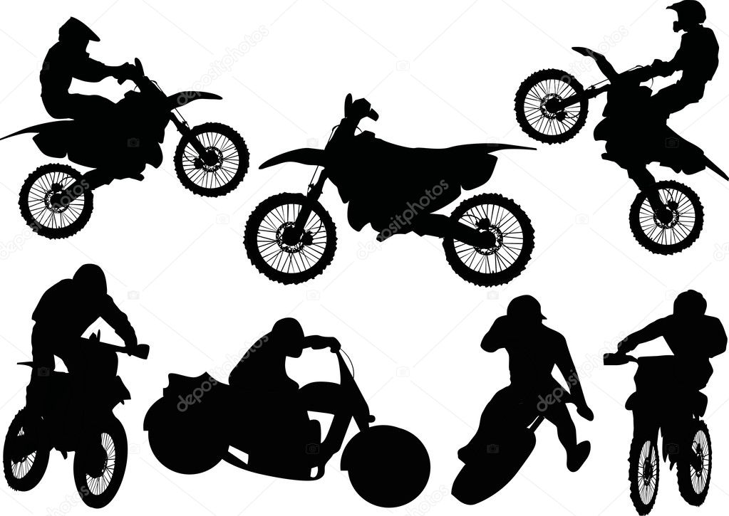 Motorcycle Racing Silhouette Racer silhouettes collection
