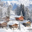 Swiss cottages - Stock Photo