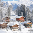 Swiss cottages — Stock Photo
