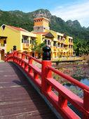 Oriental village. Langkawi island, Malay — Stock Photo